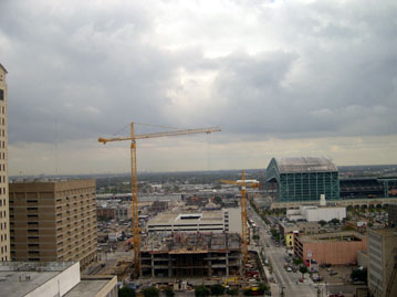 Civil center construction pictures for 12th floor congress plaza