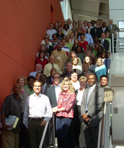 Members of the mental health court planning team gathered for their